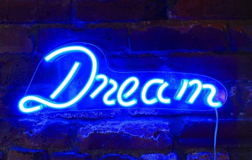 """Isaac Jacobs 17"""" by 6"""" inch LED Neon Blue