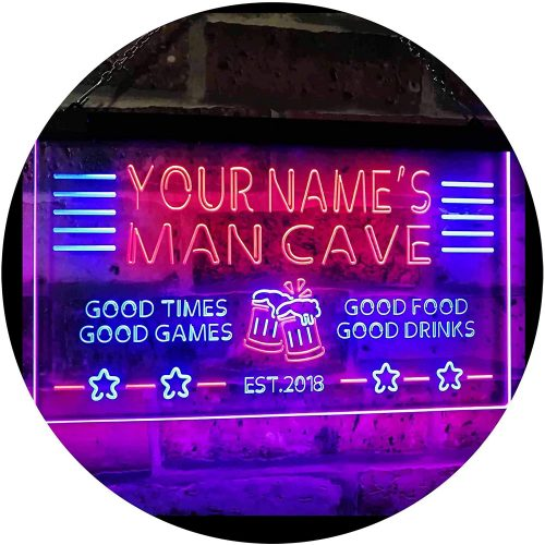 ADVPRO Personalized Name Custom Man Cave Home Bar | Custom Neon Signs