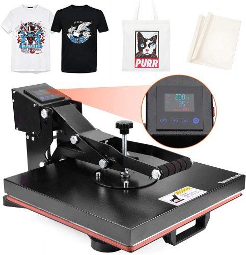 Seeutek Heat Press Machine 15x15 inch Industrial| Heat Transfer Printer