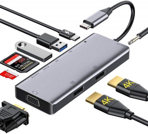 USB C Hub,GIKERSY USB Type C Adapter | IPAD Docking Station