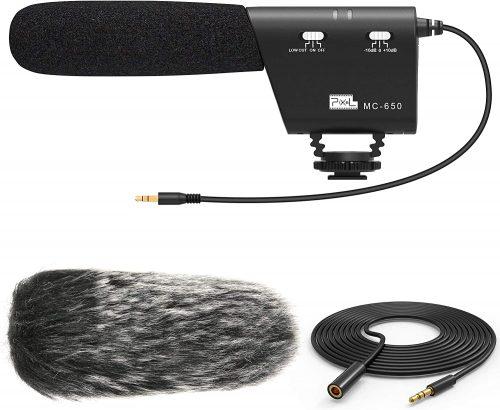 PIXEL MC650 Camera Microphone Kit, Directional Shotgun | Directional Microphone