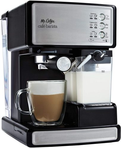 Mr. Coffee Espresso and Cappuccino Maker | Café Barista, Silver | Espresso Machine