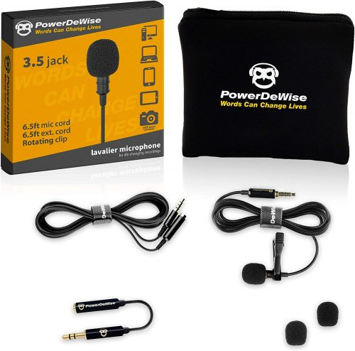 Professional Grade Lavalier Lapel Microphone| Directional Microphone
