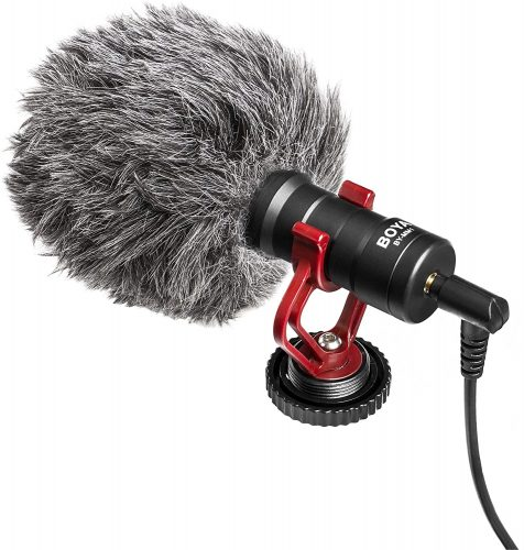 Boya by-MM1 Compact On Camera Shotgun Video Microphone | Directional Microphone