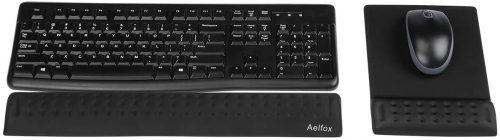 Aelfox Memory Foam Keyboard and Mouse Wrist Rest   Keyboard Wrist Rest