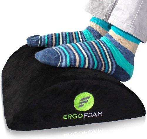 ErgoFoam Ergonomic Foot Rest Under Desk | Footrests Under Desk