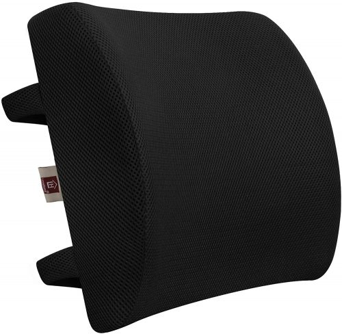 LOVEHOME Memory Foam Lumbar Support Back Cushion | Back Support For Office Chair