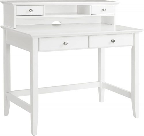 Crosley Furniture Campbell writing Desk| White Desk