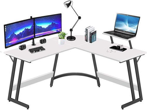 LUFEIYA L Shaped White Desk| White Desk