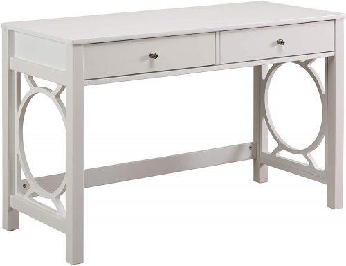 Ravenna Home Spring Dale Modern Desk| White Desk