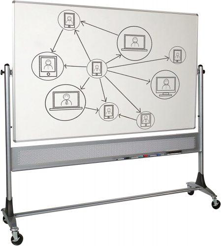 Best Rite 669RG-HH Platinum Mobile Whiteboard  Roller Whiteboards
