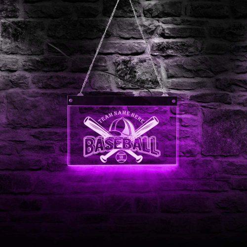 Baseball Team Logo by The Geeky Days| Custom Lighted Signs