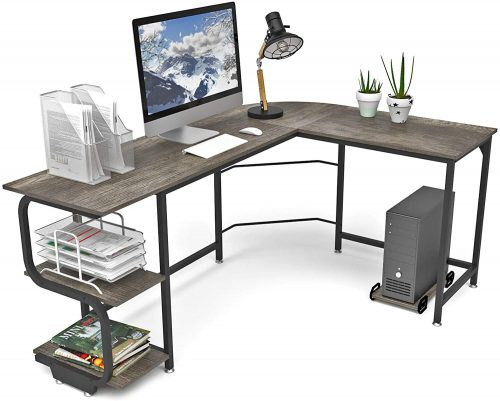 Teraves Reversible L Shaped Desk| L-Shaped Desktop Desk