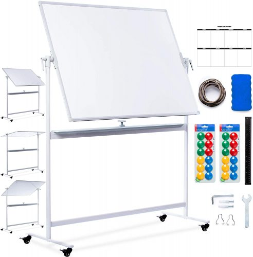 CREATIVE SPACE Double Sided Mobile Whiteboard | Mobile Whiteboard