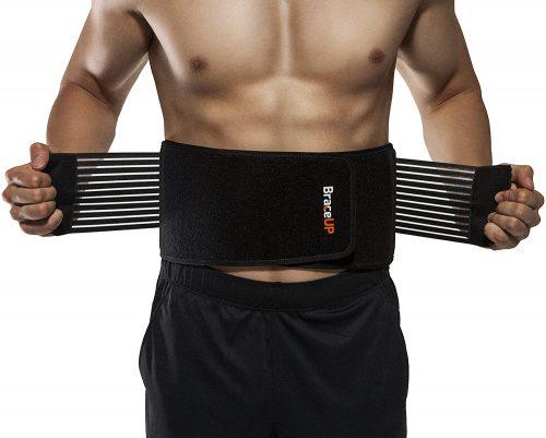 BraceUP Stabilizing Lumbar Lower Back Brace Support Belt| Back Pillows