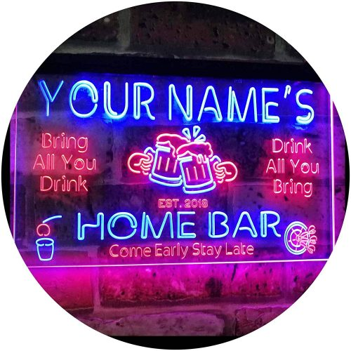 Personalized Home Bar Sign by ADVPRO| Custom Lighted Signs