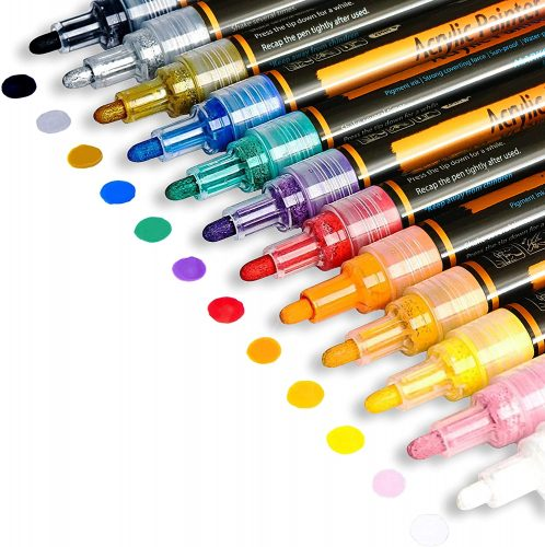 Iris & Olivia Acrylic Permanent Paint Markers| Thick Permanent Markers