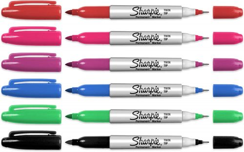 Twin Tip Bullet & Fine Point Permanent Markers – Assorted Pack   Sharpie Markers