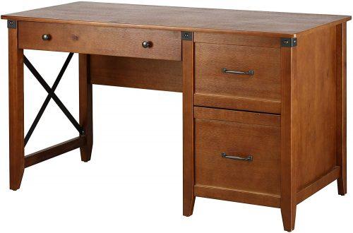 Ravenna Solid Pine Desk with Drawer | Desks With Drawer