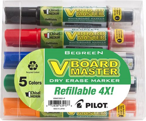 Pilot V Board Master Refillable Dry-Erase Markers  Whiteboard Markers