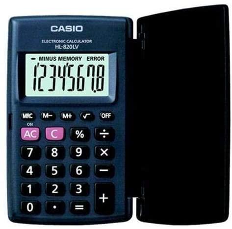 Casio HL820LV-BK Portable Calculator | Office Calculators