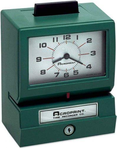 Acroprint 125NR4 Print Time Clock  Office Time Clocks