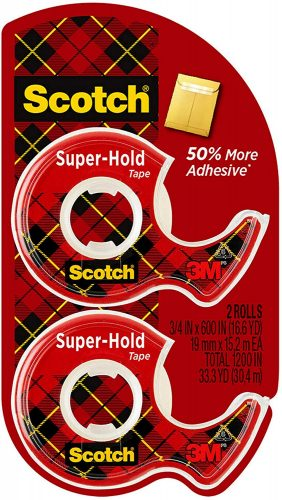 Scotch 3/4x600 Inches Super-Hold Tape with Dispenser| Transparent Tape