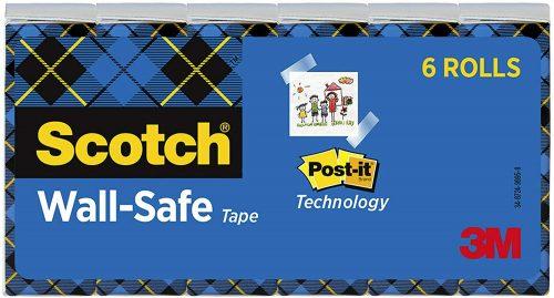 Wall-Safe Transparent 3/4x800-inch Scotch   Transparent Tape