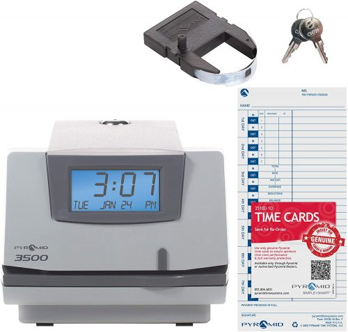Pyramid Time Systems, Model 3500   Office Time Clocks