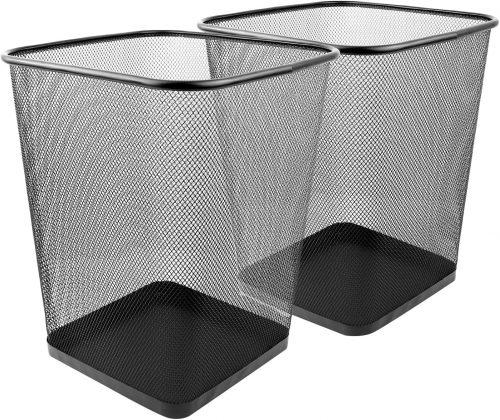 Greenco Mesh Wastebasket| Office Bins