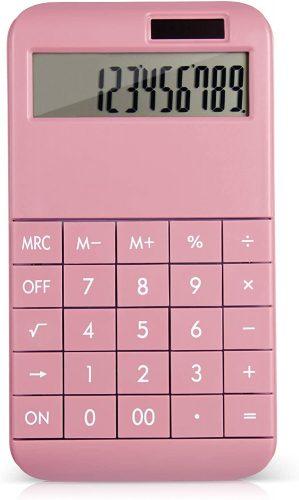 EooCoo Basic Standard Calculator EC02CL-PN| Mini Calculators