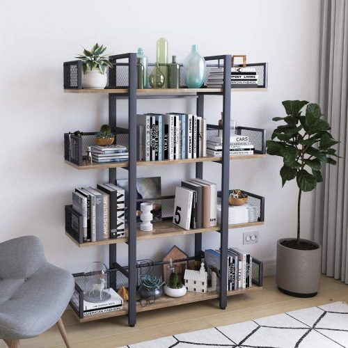 STURDIS 4 Tier Bookshelf | Office Bookcase