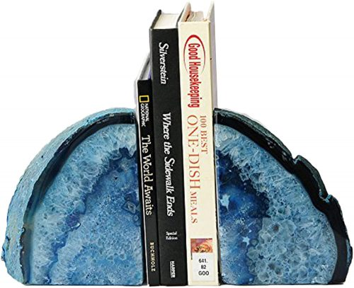 Blue Agate | Bookends