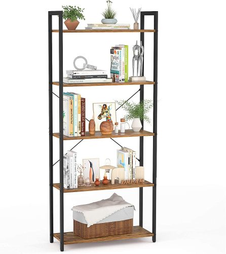 Besiture 5 Tier Bookshelf | Office Bookcase