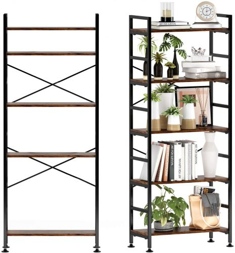 5-Tier Adjustable Tall Bookcase | Office Bookcase