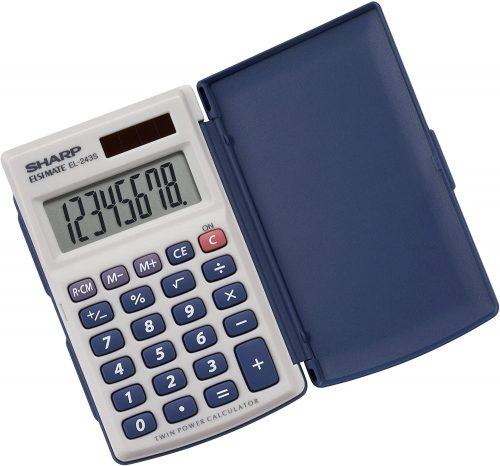 Sharp Electronics Twin Powered Calculator| Mini Calculators
